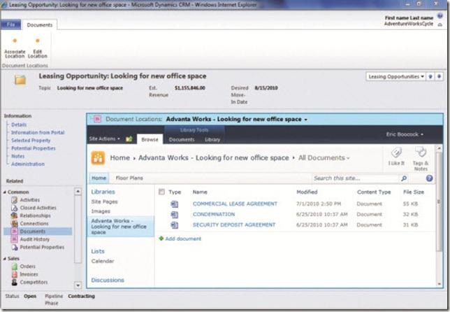Screenshot_Microsoft CRM_2011_connected