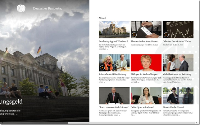 Deutscher Bundestag Windows 8-App