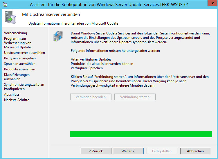 wsus updateinformationen